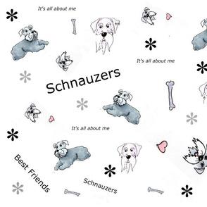 Schauzer best friends