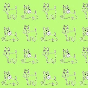 twin_green_schnauzers for kids pyjamas and funky dog clothes, and bandanas.