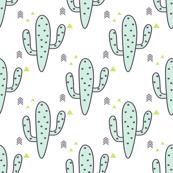 Mint Cactus and purple arrows