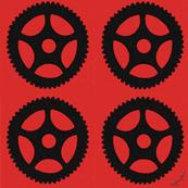 Black on Red Gears - Blythe Ayne