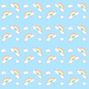 Kawaii Rainbows and Hearts