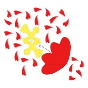 Love Birds in Wind by Blythe Ayne