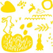 playing_rabbits_yellow