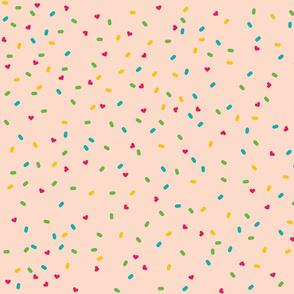 Ditsy Donut Sprinkles (cream)