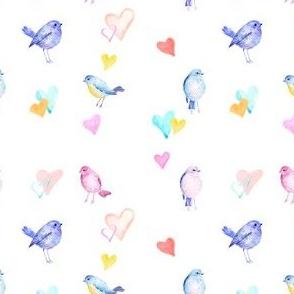 Baby bird Pastel Hearts