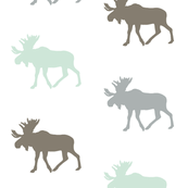 Multi Moose // grey,mint, brown