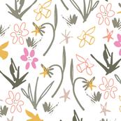 Spring Floral Scribbles