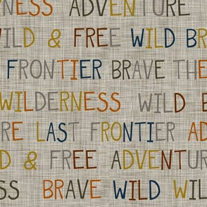 Adventure Wilderness Words