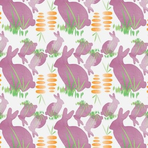 Bunnies Eating Carrots