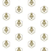 Geometric Bee in Gold