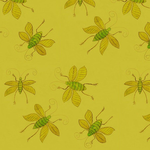 Lime green Bugs by Sara Aurora Waters