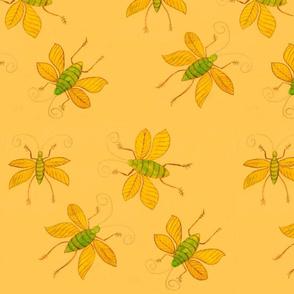 Orange Bugs by Sara Aurora Waters