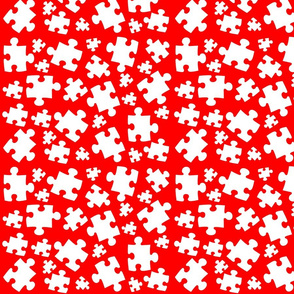 Autism Puzzle Pieces Red