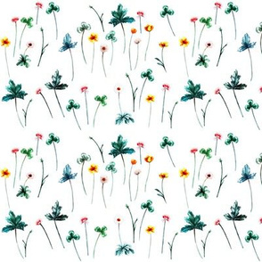 Meadow Sweet Floral on White
