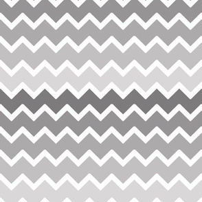 Grey Gray Ombre Chevron