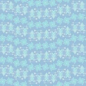 Blue graphic blender