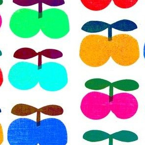 cherry_fruits_multicolor_retro_style_1970_hand_printed