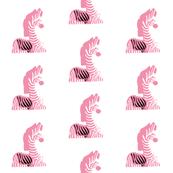 white pink black zebra