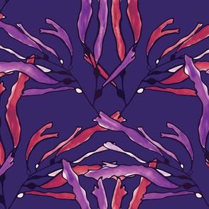 Kelp_seaweed_purple_watercolor_on_purple