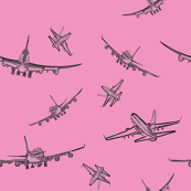 Plane Sketches on Pink