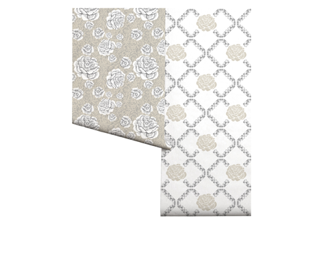 rose lattice - cottage window