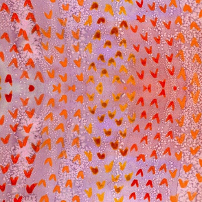 abstract coral watercolor smaller