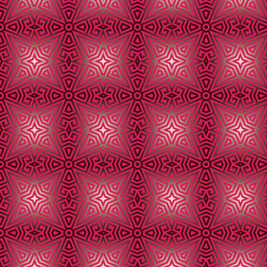 Pink Greek Key Star Pattern