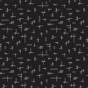 Geometric Lines Black