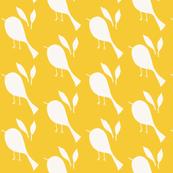 White & Yellow Bird