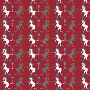 Medieval Unicorn Red