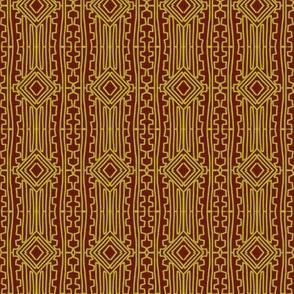 Native Weaving Gold Bronze