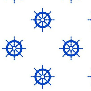 I Am the Captain of My Ship in Marine Blue