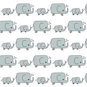 Elephants - Grey and White