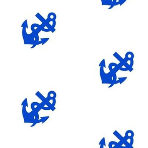Large Anchors Away in Marine Blue