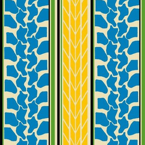 bike tread stripe blue by Diane Gilbert