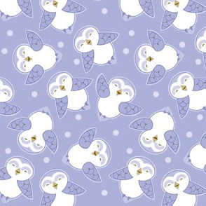 Snow Owls in purple