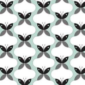 Butterflies in mint