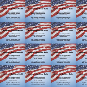 Kenmore Quilters Guild comfort quilts for Vets