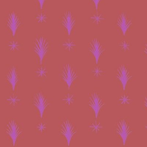 Spruce Stars Pink Red