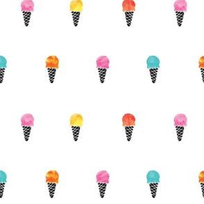 icecream cones // watercolor