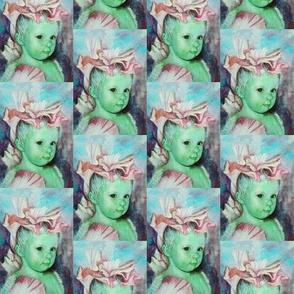 Iris Princess 3 - green, pink, aqua