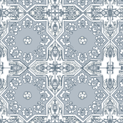MOROCCAN gray slate ivory