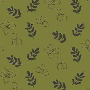 Spring Wildflower in Gold
