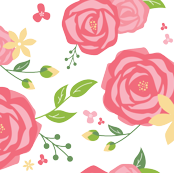 Spring Peony in Coral