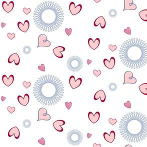 Swirling Hearts & Flowers
