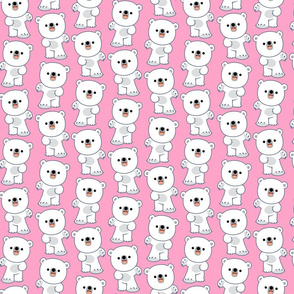 Laughing Little Polar Bears Pink by Cheerful Madness!!