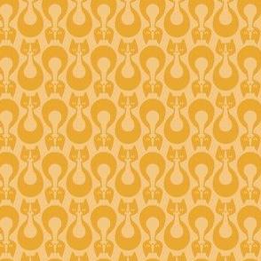 Indikat Designs - Cat Pattern Yellow