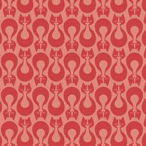 Indikat Designs - Cat Pattern Salmon