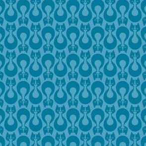 Indikat Designs - Cat Pattern - Blue