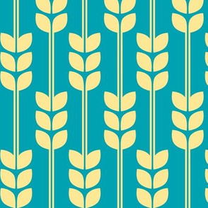 Wheat - Yellow on Turquoise